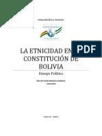 La etnicidad en la Constitución de Bolivia