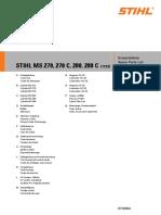 repair manual STIHLL MS270_MS270C_MS280_MS280C