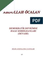Demokratik Devrimde Halk Serhıldanları 1.CİLT - Abdullah Öcalan