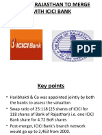 Bank of Rajasthan to Merge With Icici Bank Ppt