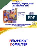 Presentasi Sim komputer,perangkat, program basis data dan komunikasi data
