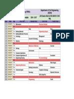 Final Exam Timetable