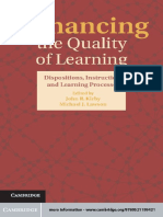 John R. Kirby, Michael J. Lawson Enhancing the Quality of Learning Dispositions, Instruction, And Learning Processes