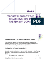 BEF 12503 - Week 8 - I-V Relationships in the Phasor Domain