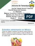 Subsidios Alimentarios en México