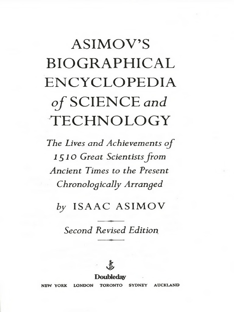 Asimovs Biographical Encyclopedia Of Science And Technology Isaac Reassembled Number 5 Is Alive Again Cru Jones Society Asimov 941ppdf History Scientist