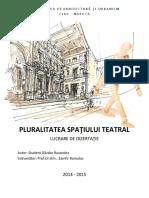 GAZDAC RUXANDRA - Pluraliatea Spatiului Teatral