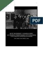 Arte y franquismo- Jorge Luis Marzo
