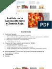 Análisis de La Cadena Jitomate o Tomate Rojo