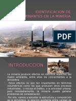 Identificacion de Contaminantes en La Mineria