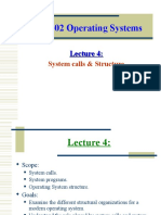 Lecture4 System Calls and Structure