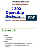 Lecture14 Input Output Management