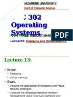 Lecture13 Swapping and Virtual Memory
