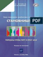 2002 Породице Према Типу и Броју Деце – Подаци По Насељима, Попис 2002