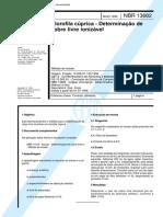 NBR 13682 - Clorofila Cuprica - Determinacao de Cobre Livre Ionizavel