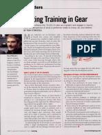 Getting Training in Gear