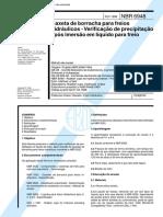 NBR 06948 - Gaxeta de borracha para freios hidraulicos - Verificacao de precipitacao apos imersao.pdf