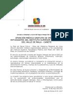 N-0715 Atención Medica Integral Gratuita a Estudiantes Del Instituto Superior San Pedro Del Valle de Mala - Cañete