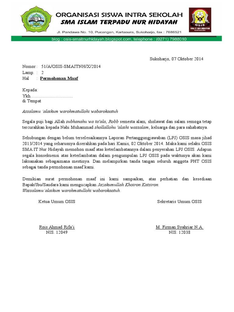 Surat Osis Sma