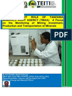 The Oversight Role of Tanzania Mineral Audit Agency (Tmaa)