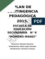 Plan de Contingencia Pedagógica