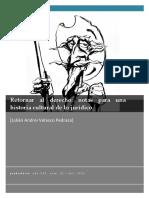 Notas Para Una Historica Cultural de Lo Jurídico - Julián Pedraza