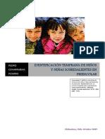 La Identificación Temprana de Niños y Niñas Sobresalientes en Preescolar