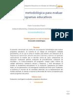 Propuesta Metodológica Para Evaluar Programas Educativos
