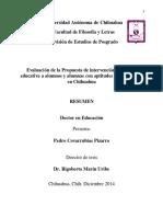 Resumen tesis doctoral Covarrubias 2014