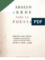 Revista Caballo Verde para la Poesía Nº 2 (1935)