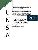 Definicion Del Epa y Dha