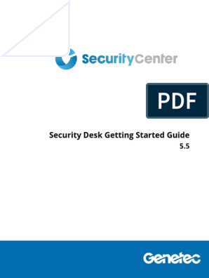 Security Desk Getting Started Guide 5 5