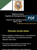 CLASE 10 Tratorno Del Equilibrio Acido Basico 2016
