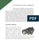 Mecanismos de corrosión del acero explicados