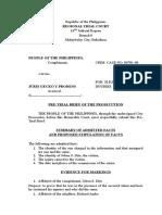 Pre Trial Brief Pros