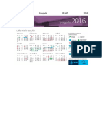 Calendario Posgado BUAP 2016