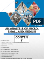 An Analysis of Micro, Small and Medium Enterprises in India.