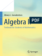 Algebra II - Textbook for Students of Mathematics - Gorodentsev, Alexey L.