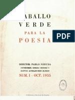 Revista Caballo Verde para la Poesía Nº 1 (1935)