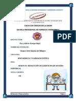 Ejercicios Primera Unidad Farmacocinetica