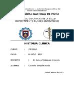 Historia Clinica Dr Roman