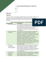 Proceso Gestión de Despachos Y Recibo de Mercancía