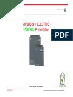 Mitsubishi FR F700 Inverter