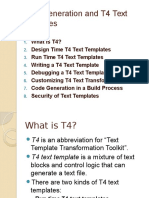 Code Generation and T4 Text Templates