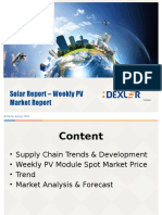 Solar PV Module Weekly Report
