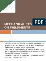 Mechanical Testing on Welding