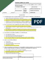 Examen Gestión Pública en Salud