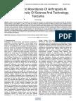 Diversity and Abundance of Arthropods at Mbeya University of Science and Technology Tanzania
