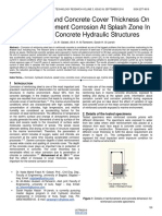Effect of Age and Concrete Cover Thickness on Steel Reinforcement Corrosion at Splash Zone in Reinforced Concrete Hydraulic Structures