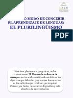 Tema 2 Plurilingüismo y Pluriculturalismo